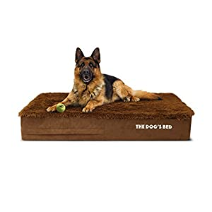 """Replacement Outer Cover ONLY (Outer Cover ONLY – NO Bed, NO Waterproof Inner) for The Dog's Bed, Washable Quality Faux Fur Fabric, Large 40"""" x 25"""" x 6"""" (Teddy Bear Brown)"""