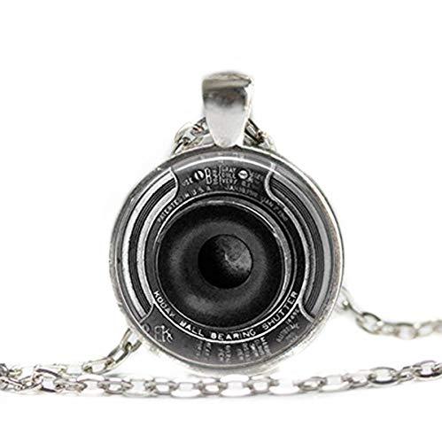 Flower world - Collar Steampunk de joyas para cámara fotográfica, colgante de cristal de lente de cámara, adornos de cristal en forma de cúpula, regalos para ella, hermosos collares