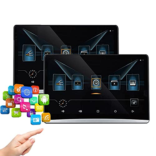 """MaSYZBF DVD para Coche Soporta HDMI, MP5 Pantallas (Sin batería), 12.5"""" Dual Reproductor de DVD para Reposacabezas con Auriculares Soporta Video 1080P/ MKV/USB/SD/AVI, AV-IN/out"""