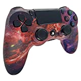 Mando Inalambrico para PS4, Gamepad Wireless Bluetooth Controlador Joystick Controller, con Gyro de 6 Ejes y Conector de Audio Mando Vibración Doble/Panel Multitáctil