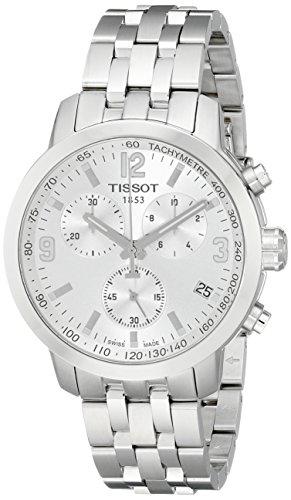 Tissot T0554171103700 PRC200 - Reloj analógico de cuarzo para hombre, color plateado