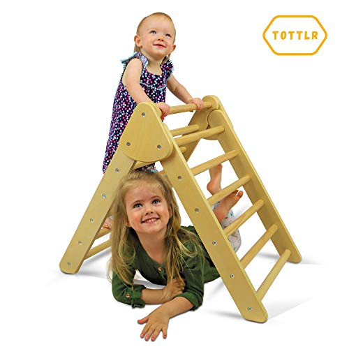 TOTTLR Pikler Triangle - Montessori Toddler Climber - Indoor Foldable Climbing Toys for Toddler...