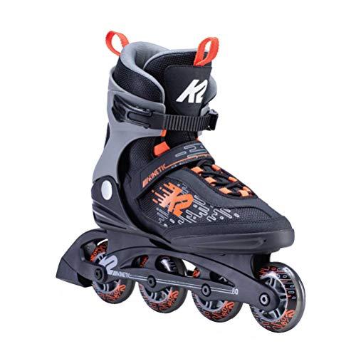 K2 Inline Skates KINETIC 80 M Für Herren Mit K2 Softboot, Black - Grey - Orange, 30E0750