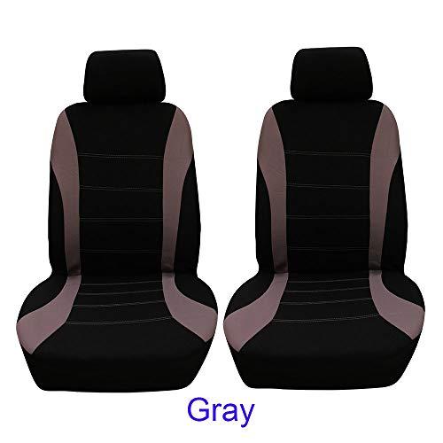 Veshow Fundas de asiento de coche ajuste universal conjunto completo protectores de asiento de coche pistas de neumáticos accesorios de asiento de coche - 4 piezas, gris