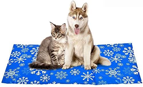 XIAPIA Alfombrilla Refrigerante Perros/Gatos, Manta de Refrigeración para Mascotas Grandes Medianos, Alfombra Refrescante Colchoneta Cama Gato Frio Animales Colchon Mascotas para Verano, 70x120cm, XL