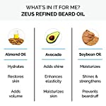 ZEUS Refined Beard Oil - Best Leave In Concentrated Moisturizing Softener & Conditioner for Facial Skin and Hair, 2 oz… 4