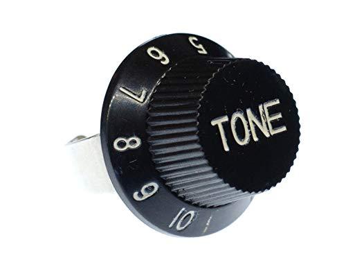 Miniblings Tone Poti Potentiometer Ring Gitarre E-Gitarre Fingerring Tone Knopf - Handmade Modeschmuck I Fingerring mit Motiv I verstellbar one Size