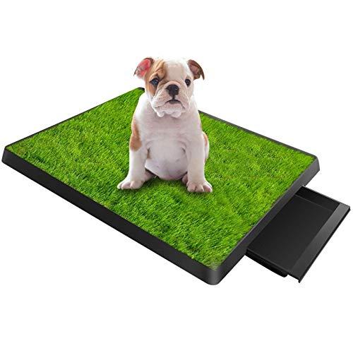 Cajas de arena/ Inodoro para Perros Mascotas Cachorro De Entrenamiento Insignificante Grass Pad Con Cajón, Bandeja De Inodoro De Césped Artificial Para Perros Pequeños Y Grandes Mascotas, Alfombrilla