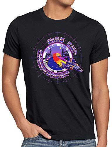 A.N.T. King Cup Champion Camiseta para Hombre T-Shirt Captain Falcon fzero, Talla:L