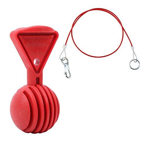 AL-KO Safety Ball rot + Abreißseil Rot 100 cm mit Karabiner und Ring