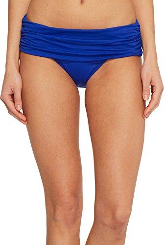 Lauren Ralph Lauren Damen Beach Club Solids breites Shirred Banded Hipster Bottom - blau - 40