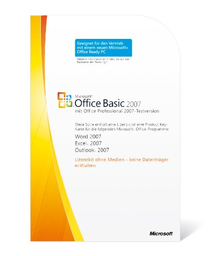 Microsoft Office Basic 2007, Win32, 1pk, DSP OEM, V2, w/OfcPro2007Trial MLK, DE