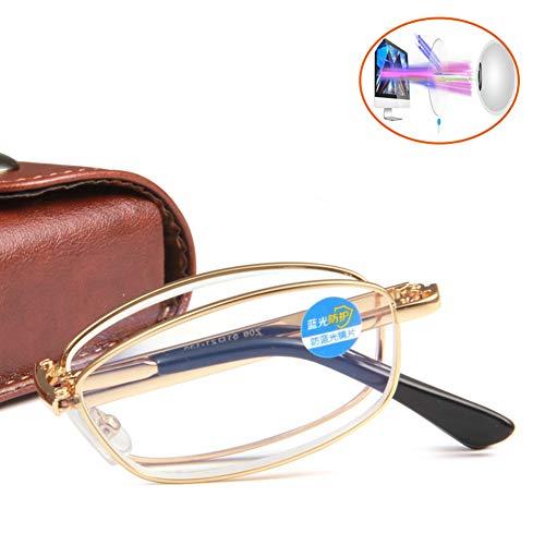 MLSJM Unisex Draagbare vouwen Mode Lezen Bril Blauw Licht Blokkeren Brillen Lezers, Ultra-Clear Anti Oogschaduw Beste cadeau voor ouders