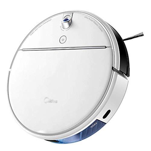 HYL Aspiradora Inteligente Oficina Inteligente Automático Hoover silencioso Robot Aspirador de la robusteza de Barrido Principal Grande barredora de aspiración (Color: Blanco, Tamaño: 34 * 34 * 9 cm)