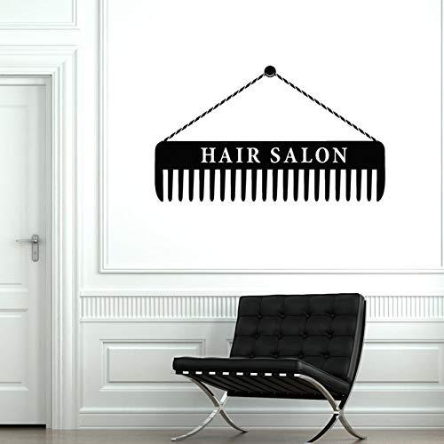 Peluquería pared calcomanía peluquero estilista peine arte Mural vinilo pared pegatina ventana vidrio calcomanía autoadhesivo