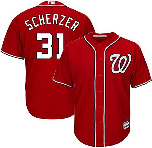 Max Scherzer Washington Nationals #31 Infants Toddler Red Cool Base Alternate Player Jersey (4T)