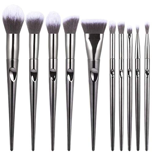 MLYJC Pinceaux Maquillage kit Kit de pinceaux de maquillage professionnel Foundation Foundation Eyebrow Lip Highlighter Brush Make Up Brushes, Black