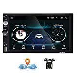 Android Autoradio 2 Din GPS CAMECHO Touchscreen capacitivo da 7 pollici Bluetooth WIFI USB...