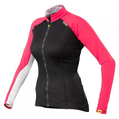 Mavic Athena Damen Fahrrad Trikot lang schwarz/pink 2015: Größe: M (38/40)