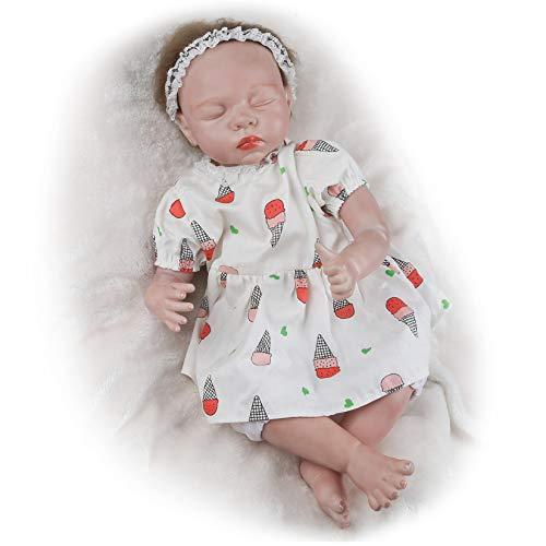 Vollence 22 inch Eye Closed Reborn Baby Doll, Sleeping Lifelike Baby Doll,Realistic Vinyl Baby Doll,Asleep Newborn Baby Doll,Real Baby Doll
