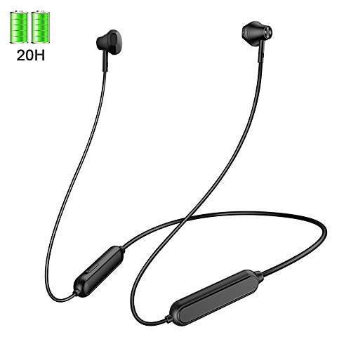 Bluetooth 5.0 Headphones,【20H Playtime + Connect 2 Devices】 Bluetooth...