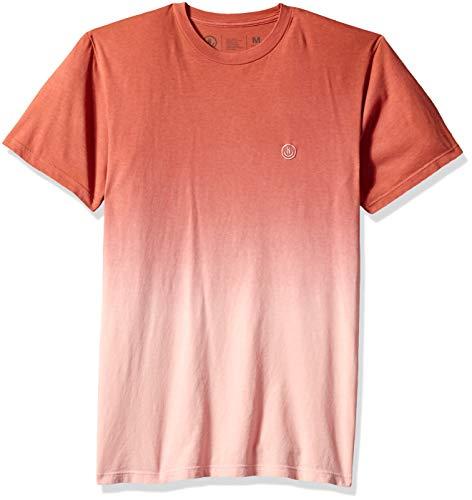 Neff Herren Dip Short Sleeve Tee T-Shirt, Rostige Rose, Klein