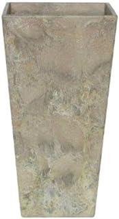 アートストーン トール スクエアー 26 x H 49 cm/軽量/植木 鉢 プランター 【 ベージュ 】