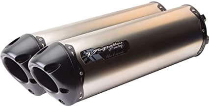 Two Brothers Racing M-2 Black Series Dual Slip-On Muffler (NO CA) Titanium - Fits: Yamaha YZF-R1 2009-2014