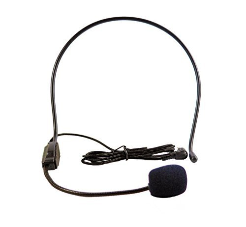 Headset Microphone, Flexible Wired Boom (Standard 3.5mm Connector Jack) for Voice Amplifier,Teachers, Speakers, Yoga Instructors, Coaches, Presentations, Seniors and Tour Guides(Set of 2)