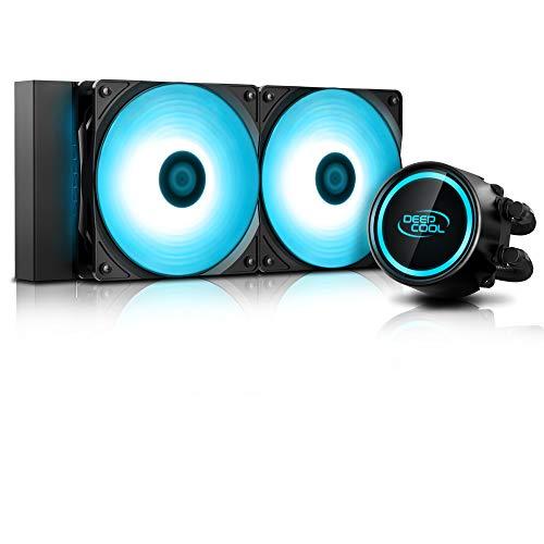 DeepCool Gammaxx L240 RGB V2 Sistema di Raffreddamento Anti-Leak Radiatore da 240mm Dissipatore a Liquido RGB 12V 4-Pin Compatibile Intel...