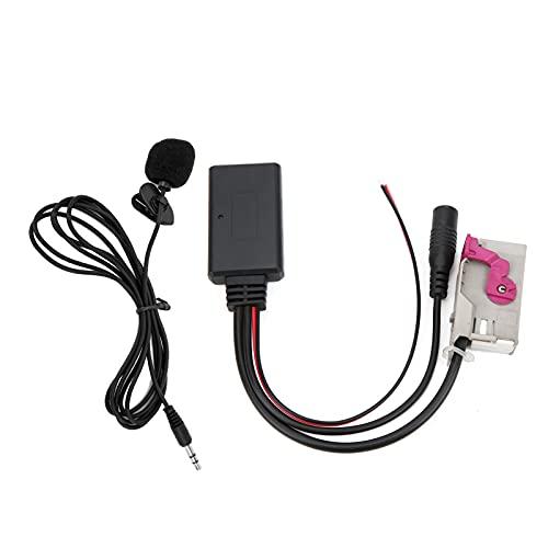 Módulo Bluetooth para automóvil Cable AUX-IN Adaptador de micrófono inalámbrico ABS DC12V Bluetooth 5.0 Kit de cable Bluetooth AUX-IN con micrófono para automóvil Cable Bluetooth AUX-IN