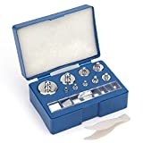 Bekith 17 Pcs Precision Weight 10mg-100g Precision Steel Calibration Weight Kit Set with Tweezers for Digital Balance Scale, Jewellery Scale