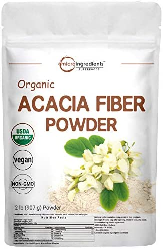 Micro Ingredients Organic Acacia Fiber Powder 2 Pound 32 Ounce Plant Based Prebiotic Superfood product image