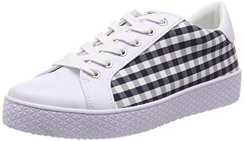 bugatti Damen 431525105969 Sneaker, Mehrfarbig (White/Dark Blue 2041), 39 EU
