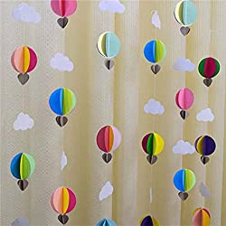 Colorful Clouds Curtain Hanging Paper Flower on amazon