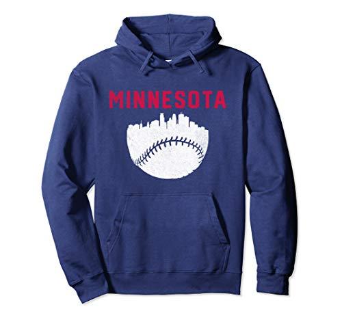 Cool Minnesota Baseball Minneapolis Skyline Pullover Hoodie