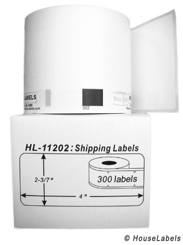 """Generic Shipping Labels Compatible w/ Brother DK-1202 (2-3/7"""" x 4""""; 62mm100mm) BPA Free(6 Rolls; 300 Labels per Roll)"""