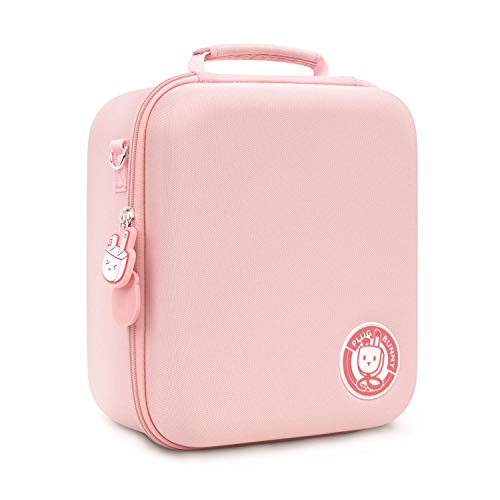 GeekShare Cute Plug Bunny Carrying Case Compatible with Nintendo Switch, Protective Travel System Case with 18 Game-Card Slots for Switch Console, Pro Controller, Dock and Accessories