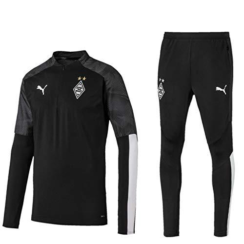 PUMA Borussia Mönchengladbach Fanartikel Herren Trainingsanzug der Saison 2019-2020, Größe:XXL, Farbe:Schwarz