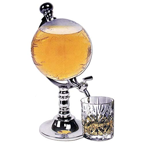 Boyuan 1.5L Dispensador de Cerveza, Torre de Cerveza de Mesa, dispensador de Torre de Bebidas Transparente, diseño en Forma de Globo, con Embudo pequeño, para Bar, Fiestas en casa, Restaurante Buffet