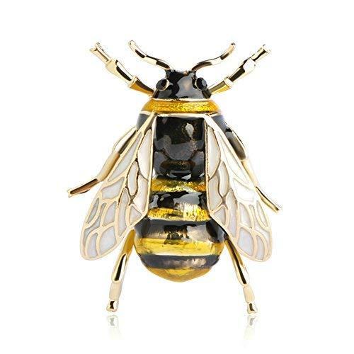 Blucome Damen Kinder Brosche Biene Fliegen aus Zinklegierung