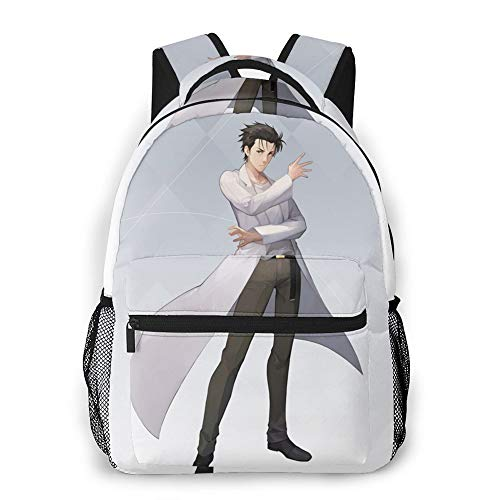 Steins Gate Bag Unisex Adult Folding Portable Backpack Ultra Lightweight Rintaro Okabe Packable Haruhi Suzumiya Water Resistant Travel Hiking Backpack Small Casual Handy Camping Outdoor Backpack