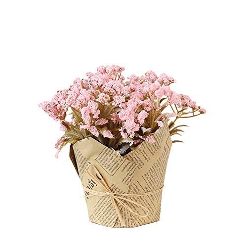 Icegrey groene gras planten in potten, kleine decoratieve faux plastic planten, ideaal voor thuis, kantoor, badkamer, keuken en outdoor decoratie Eén maat Sterrenroze