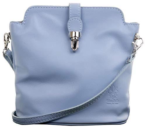 Primo Sacchi ® Italienisch weiches Leder hellblaue Hand gemacht kleinen Kreuz Körper oder Schultertasche Handtasche. Enthält einen Markenschutz-Beutel