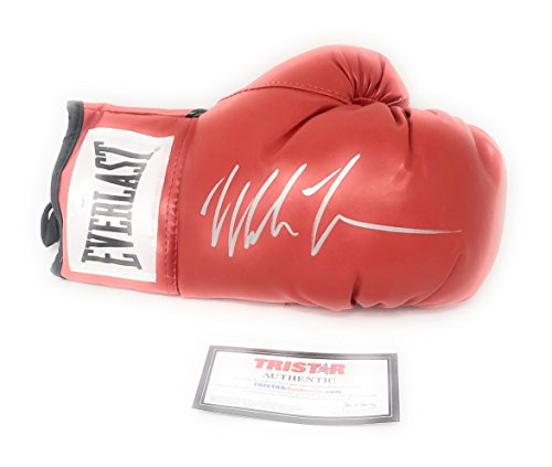Mike Tyson Signed Autograph Boxing Glove Silver Ink Tristar Authentic Certified