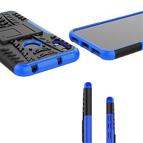 betterfon   Huawei Y6 2019 Outdoor Handy Tasche Hybrid Case Schutz Hülle Panzer TPU Silikon Hard Cover Bumper für Huawei Y6 2019 / Honor 8A Blau