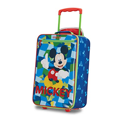 American Tourister Kids' Disney Softside Upright Luggage, Mickey Mouse 2, Carry-On 18-Inch