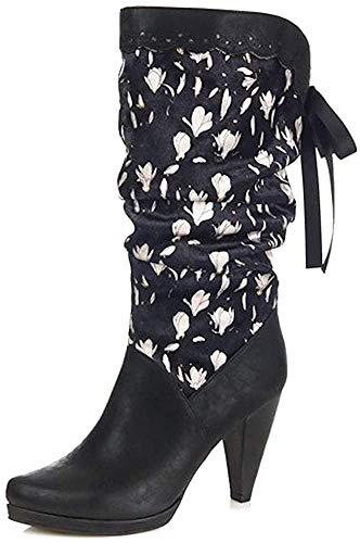 Ruby Shoo Damen Schuhe Athena Vintage Floral Retro Stiefel Schwarz Geschlossen 42