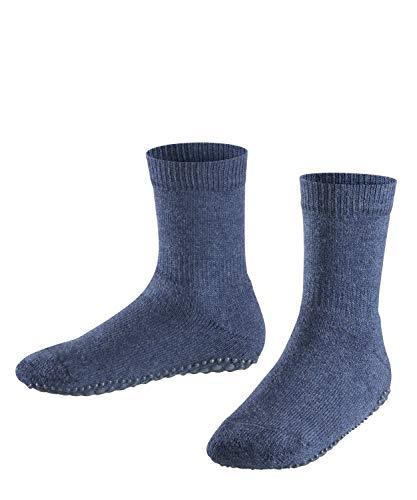FALKE Kinder Stoppersocken Catspads - Baumwollmischung, 1 Paar, Blau (Dark Blue Melange 6688), 35-38