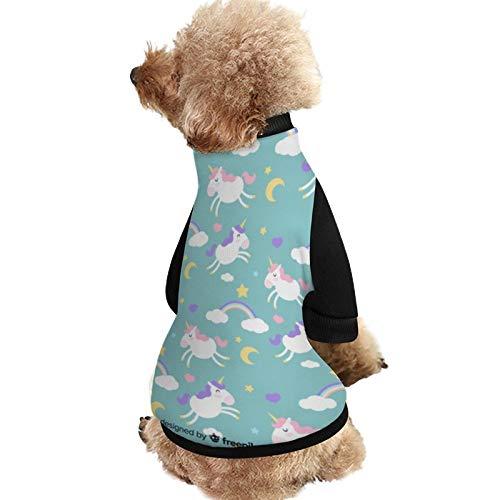 Lplpol SXA29 Hundejacke, wärmend, Einhorn-Muster, Hundejacke mit Hundewelpen